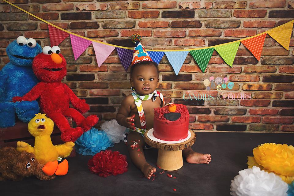 Elmo Cake Smash