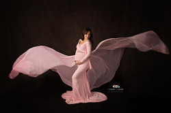 Silk Fairies Pink Maternity Gown