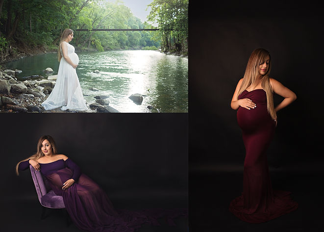 Studio and Water Maternity Pictures