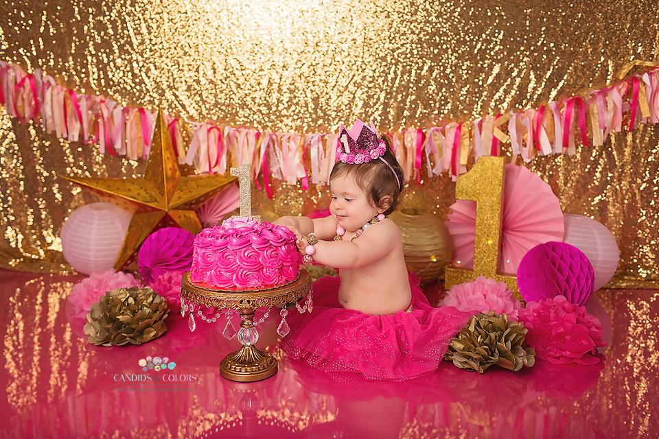 Glittery Pink Cake Smash