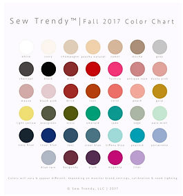 Sew Trendy Color Chart