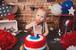 Born on the 4th of July Cake Smash