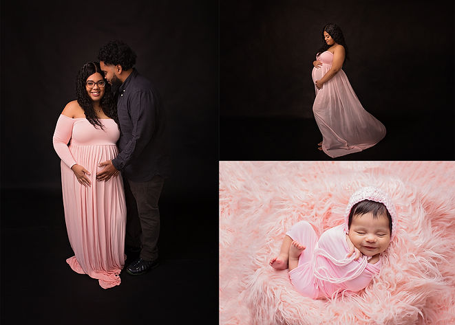Studio Maternity Pictures Posed Newborn Pictures