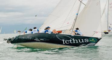 Icthus quarter-tonner racing Ilhabela Rolex sailing week Brazil