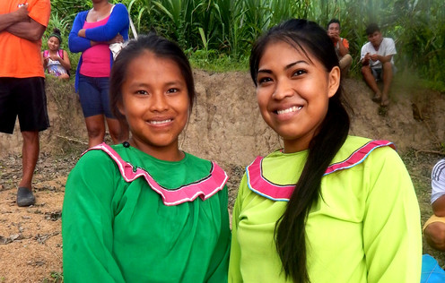 Young Shipibo women who acted as ecotour