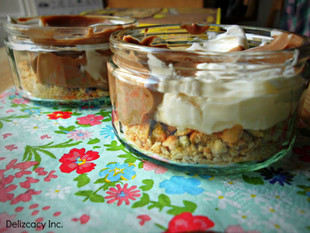 Marble Cheesecake Pots