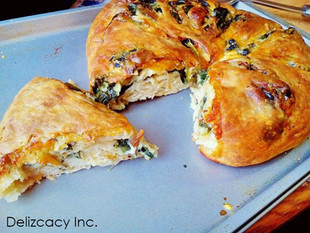 Crispy cheese & spinach pie