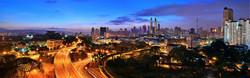 Paysage nocturne d'une ville