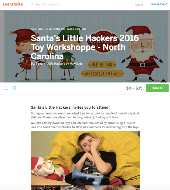 Santa's Little Hackers Toy Workshoppe - Raleigh, North Carolina