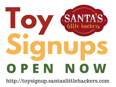 Toy Signups for 2016 are now open!