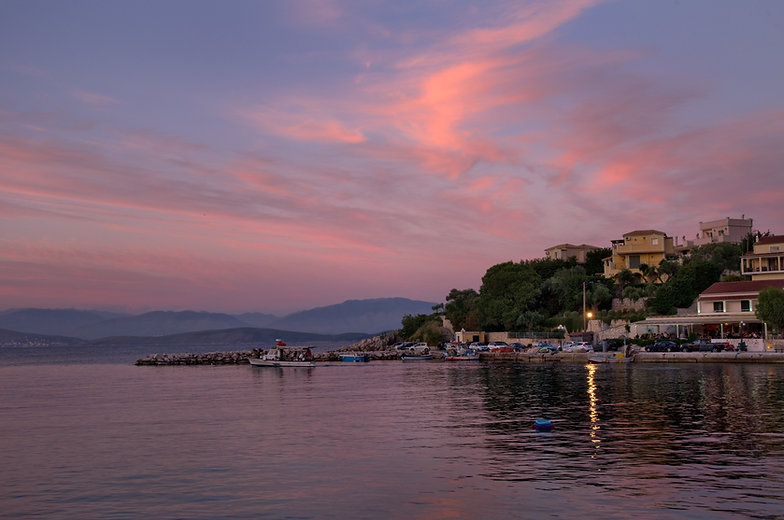 Kassiopi Harbour at Sunset 2.jpg