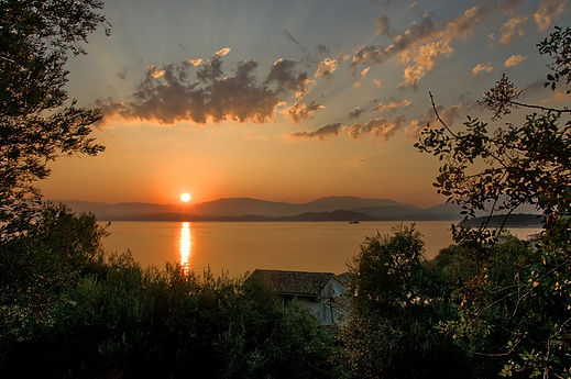 A fantastic sunrise, viewed from Kassiopi Fortress