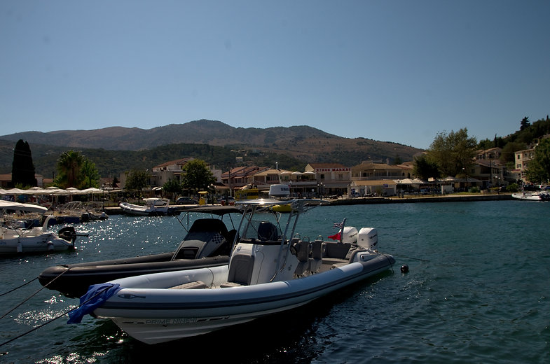 Boats for hire in Kassiopi Harbour