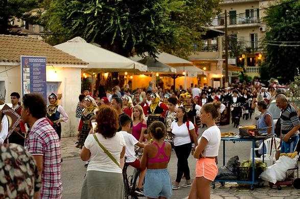 Festival time in Kassiopi Harbour