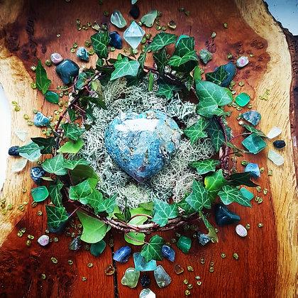 Ocean Jasper & Ivy Mandala Print