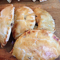 Pasties and quiches available from the cupboard