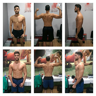 Progess of 10 weeks worth of training with Amir. Muscles mass added while dropping some body fat