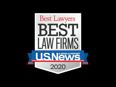 "NAMED 2019 ""BEST LAW FIRMS"" BY U.S. NEWS AND BEST LAWYERS"