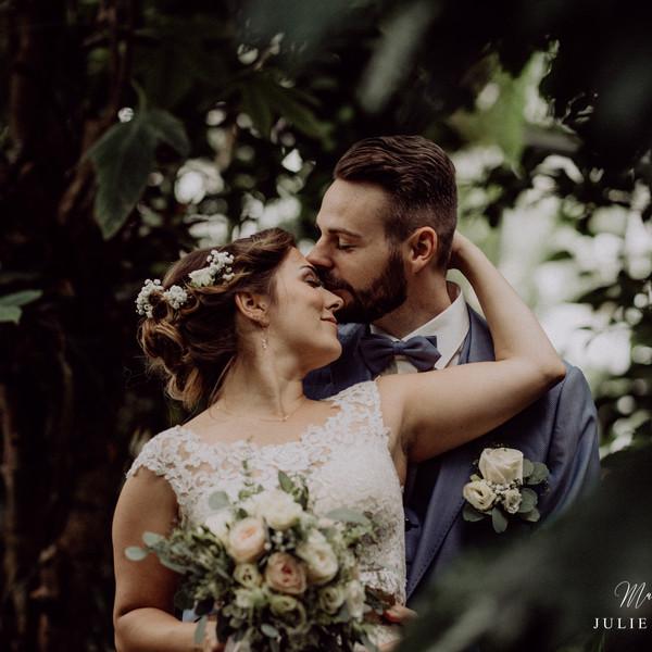 Brautpaar kurz nach der Trauung