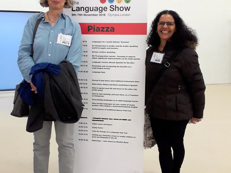 VDSS represents community languages in talk at Language Show 2018 in London
