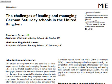 The challenges of leading and managingGerman Saturday schools in the United Kingdom