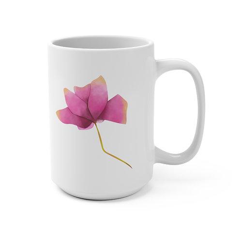 Watercolor Flower Mug 15oz