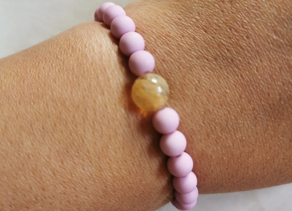 Lavender Pink and Citrine