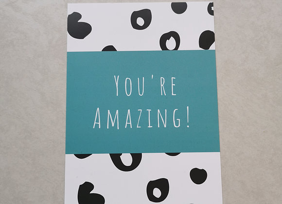 You're Amazing Affirmation Postcard