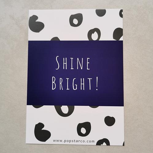 Shine Bright Affirmation Postcard