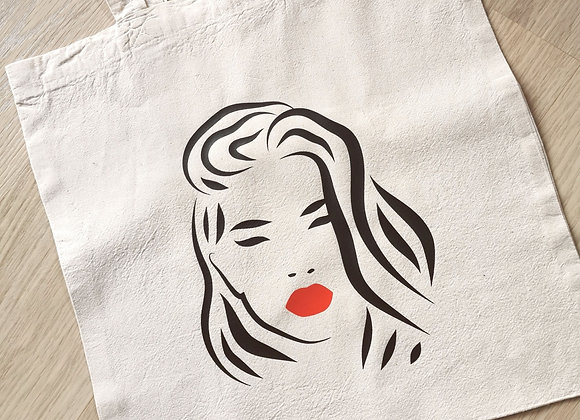 Red Lip Collection Cotton Tote Bag   Style 3