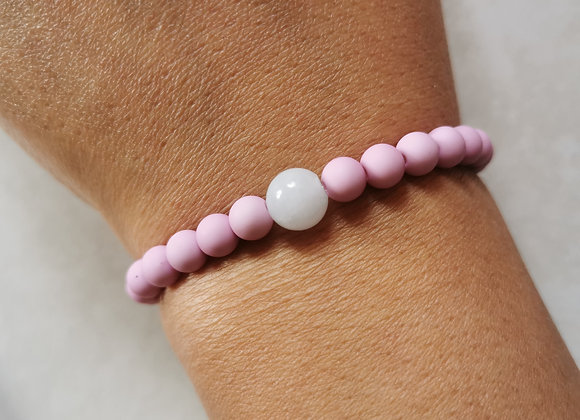 Lavender Pink and Pale Blue Agate