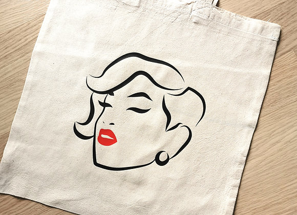 Red Lip Collection Cotton Tote Bag | Style 2