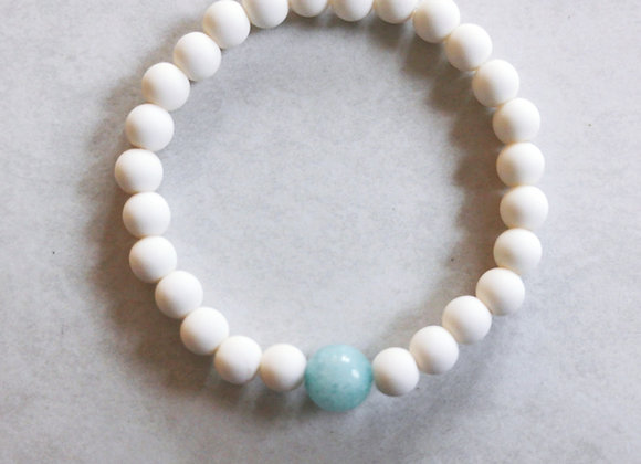 Powder White | Aquamarine