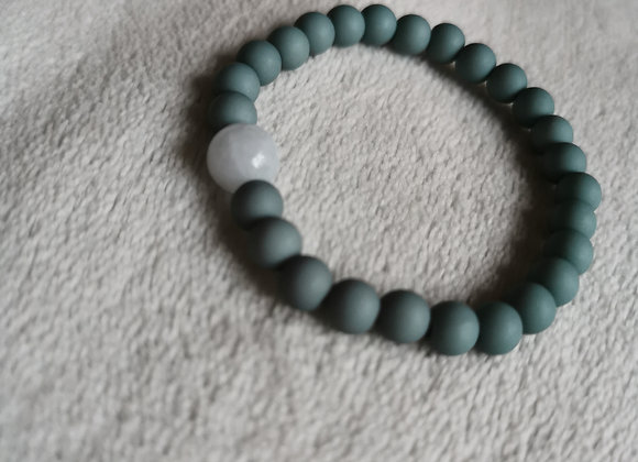 Canton Green with Pale Blue Agate