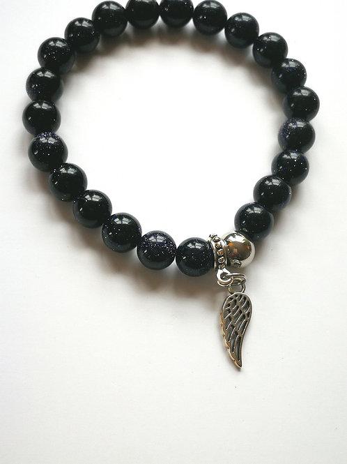 Dark Blue Sandstone Angel Wing