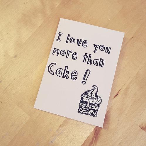 Card | I love you more than cake
