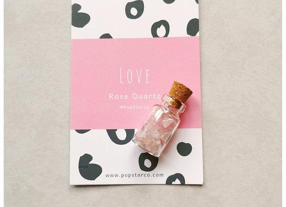 Rose Quartz Wish Bottle
