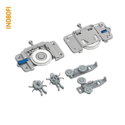 Kit de apoio sobreposto em metal com regulagem e parafuso superior IN 080FI