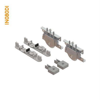 Kit de apoio em metal sobreposto com regulagem por parafuso superior IN 080DI