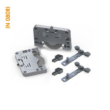 Kit de apoio sobreposto robusto com guia universal IN 080RI
