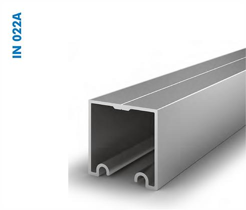 Trilho superior suspenso alumínio em liga IN 022A