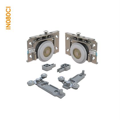 Kit de apoio em metal sobreposto com regulagem por parafuso superior IN 080CI