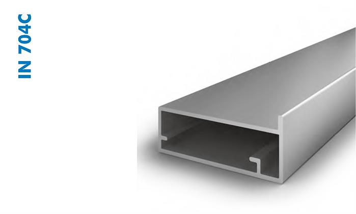 Perfil de Porta Invisivel Anodizado IN704C