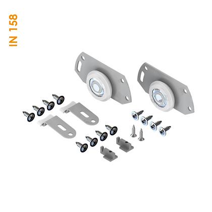 Kit de apoio simples embutido/sobreposto com guia sem roldana IN 158