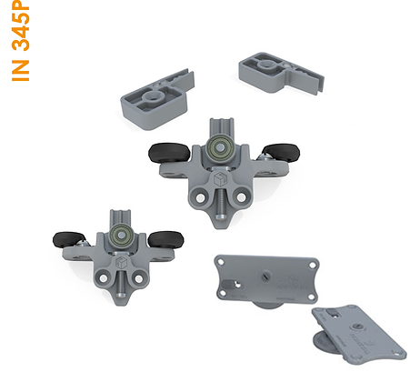 Kit de apoio embutido Plast Agility Plus com freios IN 345P