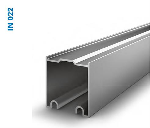 Trilho de Aluminio para roldana dupla superior