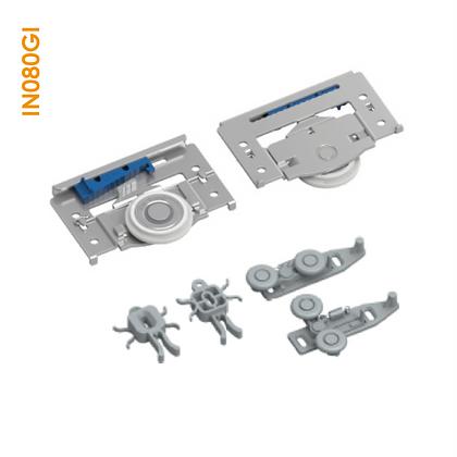 Kit de apoio sobreposto em metal com regulagem e CLIC IN 080GI