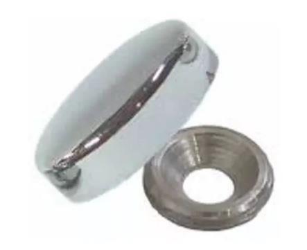 Botão Chato rosca interna com suporte para tampa