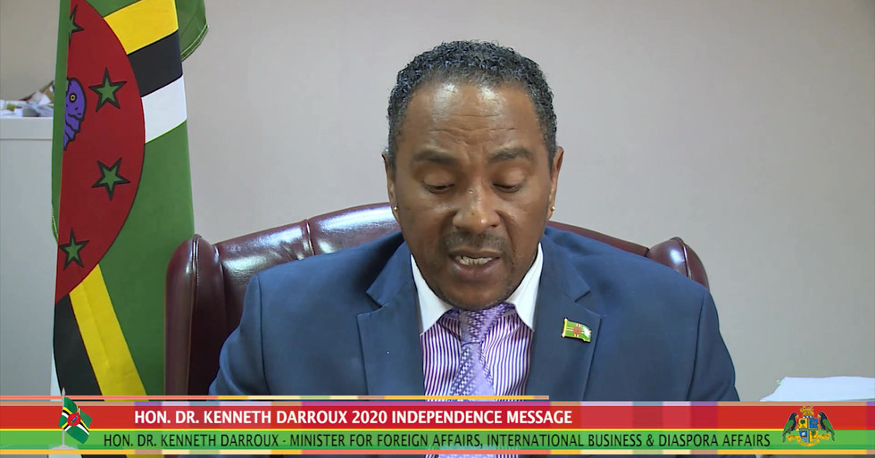 HON DR DARROUX 2020 INDEPENDENCE MESSAGE
