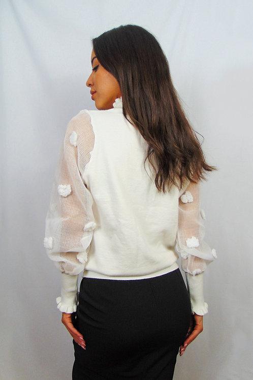 Jersey con manga globo transparente